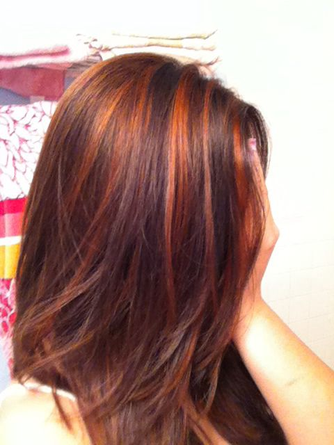 Copper Highlights Makeup And Hair Pinterest Hair