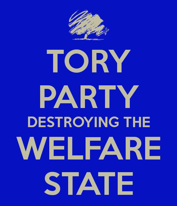 Image result for tories attack welfare state