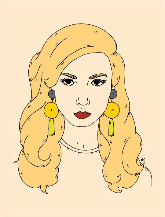 Illustration of Kelly - Here Lives Amanda // Illustration Sketch Book