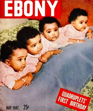 Mr. and Mrs. Fultz were poor with six children when they gave birth to the identical quadruplets in the segregated wing of a North Carolina hospital.  Almost simultaneously, the cameras and endorsements came knocking because of the rarity of this high order multiple birth.