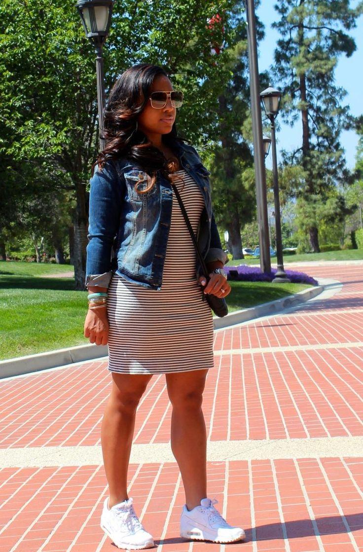 Striped dress + jean jacket | Major Must Haves