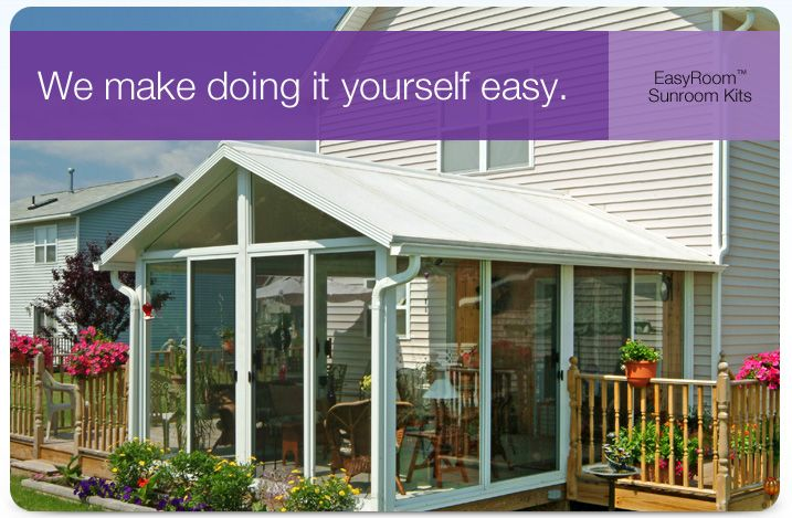 Do It Yourself Sunrooms | Sunroom Kit, EasyRoom™ DIY Sunrooms | Patio Enclosures