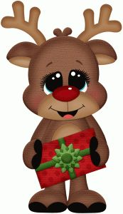Silhouette Design Store - View Design #71617: rudy holding gift pnc