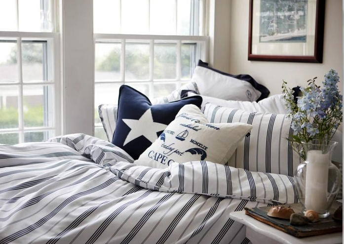 Gant Home. Fresh linen and the star pattern.