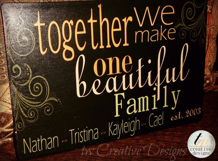 Custom Family Established sign with quote by twcreativedesigns, $25.00