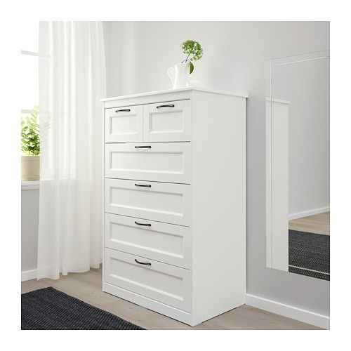 6-drawer chest SONGESAND white in 2019 | Room makeover | Bedroom ...