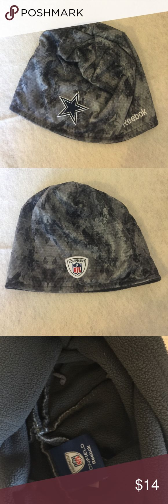 🏈Cowboys NFL Equipment fleece lined 🏈🏈🏈Ready set Hut! Are you ready for some Football???? Score big with this fleece lined Dallas Cowboys beanie!!! NFL Equipment  & Reebok🤗Oh yeah! Reebok Accessories Hats