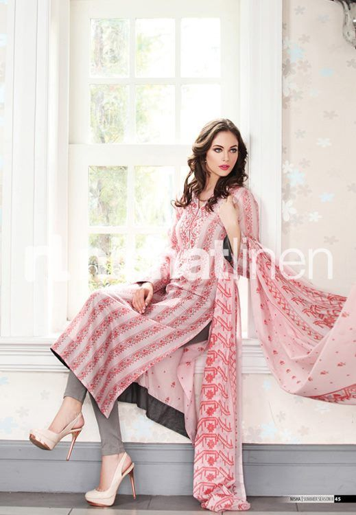 #Lawn suit with #voile #dupatta. #Nisha by #Nishat #2013 $70 (Un stitched)