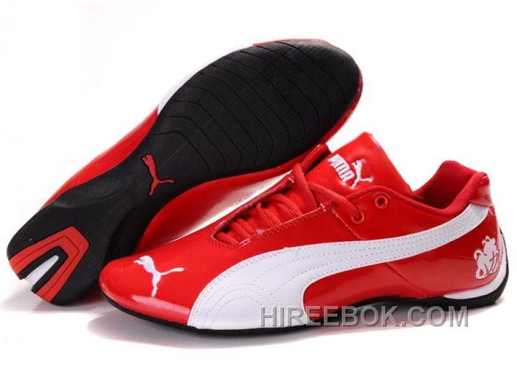 Mens Puma Michael Schumacher Red White Authentic