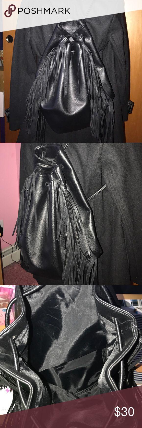 Selling this Victoria Secret string backpack - black on Poshmark! My username is: ninarampulla. #shopmycloset #poshmark #fashion #shopping #style #forsale #Victoria's Secret #Handbags