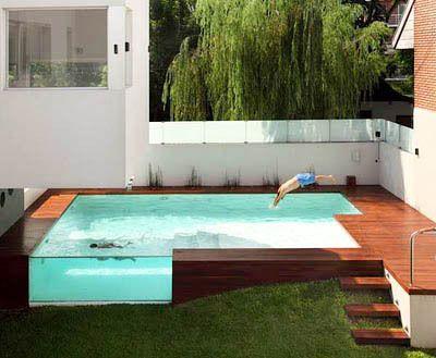 deck above ground fiberglass pool   ... .blogspot.com/2010/07/one-darn-cool-pool-swiming-at-casa.html