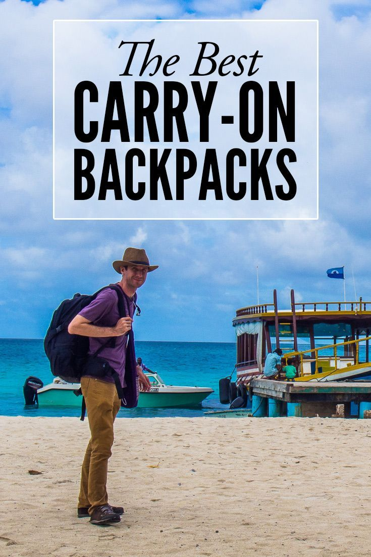 A detailed review of the best carry-on backpacks for travel. Carry-on travel makes your trip easier and cheaper. Island hopping in the Maldives was so much easier with a small backpack.