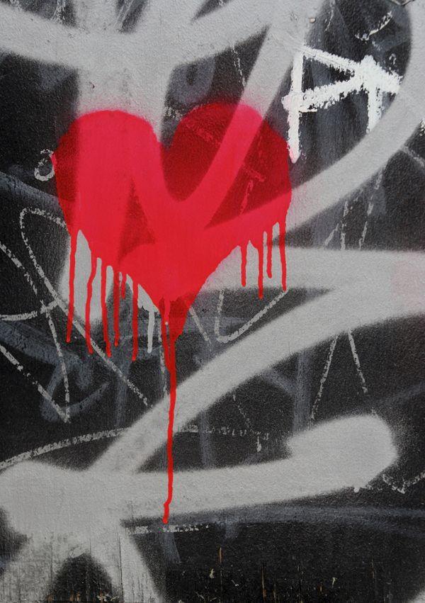 Heart Graffiti - Canvas Art Print