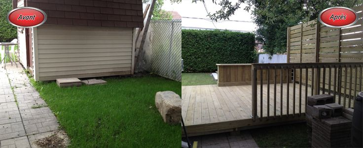 Terrasse avant-après // Backyard Before and after