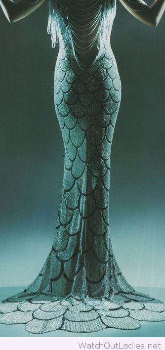 Little mermaid dress 1920s inspiration