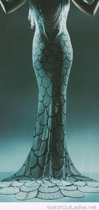 Little mermaid dress 1920s inspiration