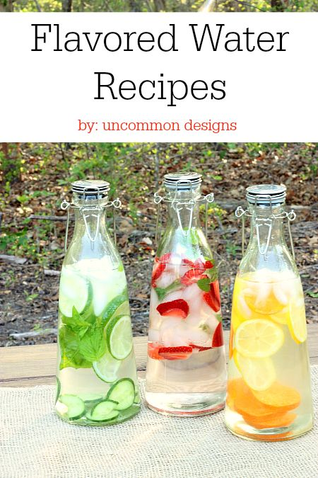 Refreshment has never tasted so good.  These naturally flavored water recipes are sure to keep you delightfully hydrated! www.uncommondesignsonline.com
