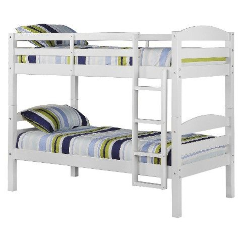 Walker Edison Solid Wood Bunk Bed - White(Twin) - 42 deep s350