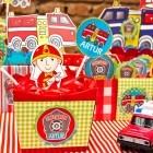 Decoração de festa infantil - Tema: bombeiro