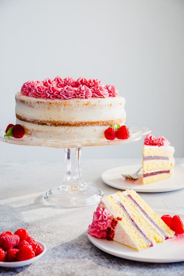 Marvelous Raspberry Layer Cake With Cream Cheese Frosting Recipe With Funny Birthday Cards Online Fluifree Goldxyz