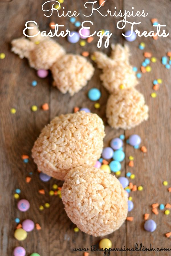 Rice Krispies Easter Egg Treats from It Happens in a Blink {Surprise Inside!}