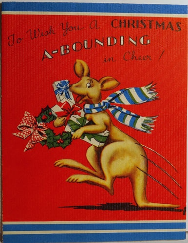 72 best christmas images on pinterest diy christmas decorations 40s australian kangaroo a bounding in cheer fold out vintage christmas card 825 ebay m4hsunfo Choice Image