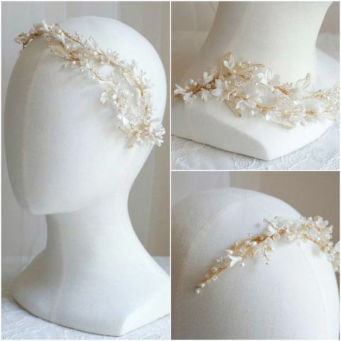 Bespoke-for-Laura-gold-leaf-bridal-headpiece-with-flowers