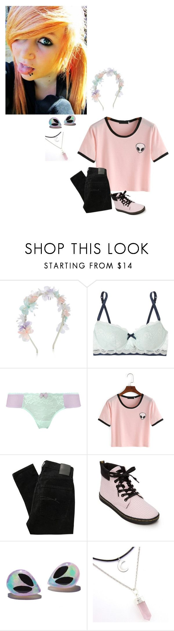 """-Carly"" by nightmaregalaxies ❤ liked on Polyvore featuring Monsoon, Elle Macpherson Intimates, Nobody Denim and Dr. Martens"