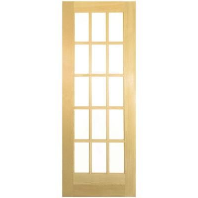 Builders Choice 32 In X 80 In 32 In Clear Pine 15 Lite French Interior Door Slab Hdcp151528 The Home Depot In 2020 Pine Interior Doors Doors Interior French Doors Interior