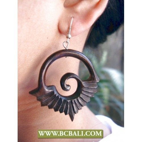 Bali Wooden Earring Carving - wholesaler jewelerry wooden ear from bali indoensia, handmade woods ear carved, woman accessories wooden earring from bali, online shop jewelerry from bali indonesia