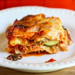 Portobello and Summer Squash Lasagna #foodgawker