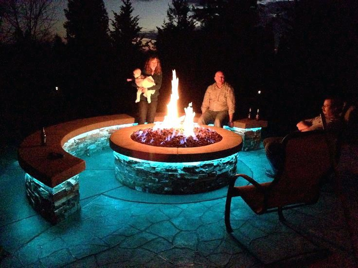 Fire Pit, Gas Outdoor Fire Pit