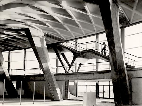 Pier Luigi Nervi, Palazzo dello Sport (Rome - EUR). Courtesy of the MAXXI Foundation