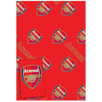 Arsenal Gift Wrapping Sheets and 2 Gift Tags available from Publishers with Free UK Delivery at https://www.danilo.com/Shop/Cards-and-Wrap/Gift-Wrap-and-Tags