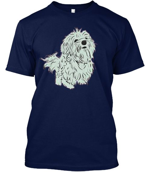 Cute Dog T Shirt   Buy T Shirt Online Navy T-Shirt Front