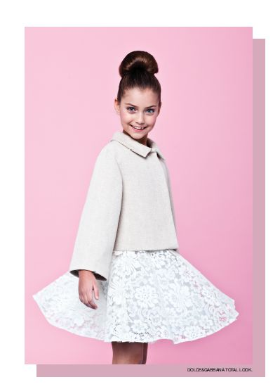 From our editorial - CANDY CANDY Photos: Zhanna Romashka Stilist: Only Stylish People Hair: Giorgia Rizzardi. Dolce&Gabbana total look. #dolcegabbana #childrenswear #girls #childrenfashion #kids @Dolce & Gabbana