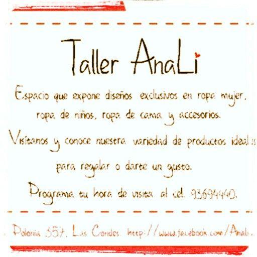 Visita Taller AnaLi:: haz tu cita al mail aolivac@gmail.com