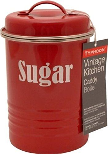 Typhoon Vintage Red Sugar Canister / Caddy - 19.5Cm