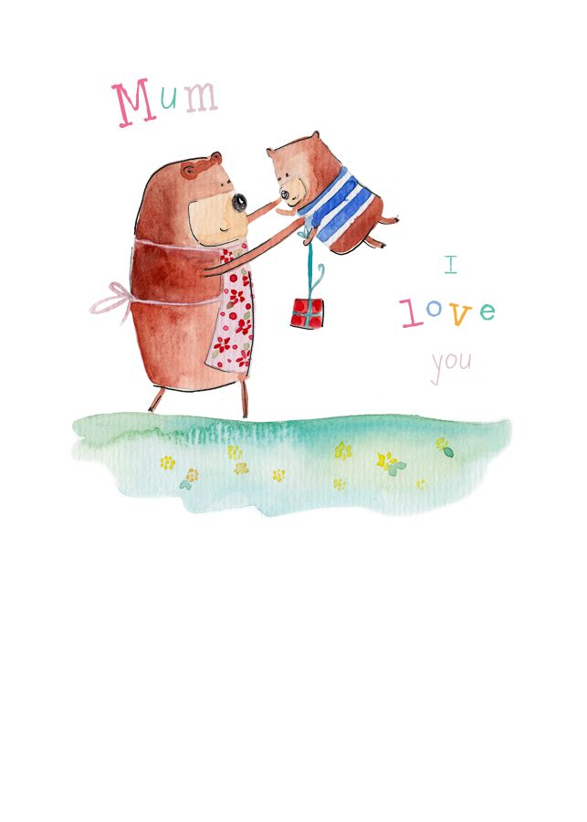 Love you mum bears card