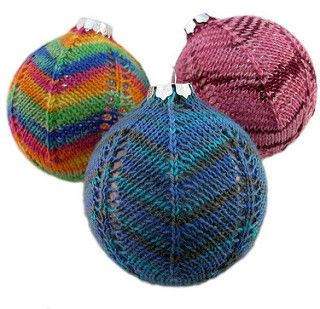Spiral & Chevron Ornaments are a delightful addition to your holiday tree.