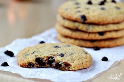 Печенье с шоколадной крошкой - пошаговый кулинарный рецепт на Повар.ру