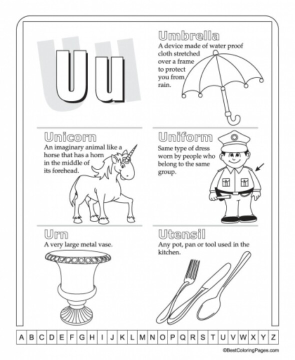 Worksheets Letter U Word For Preschool 1000 images about letter u on pinterest letters unicorn crafts words that start with the u