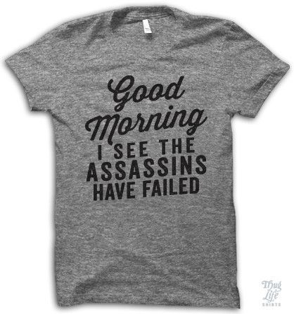 I See The Assassins Have Failed Shirt