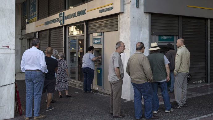 ECB to cut off Lending to Greek banks. Reuters / Marko Djurica. But the EU can lend to Ukraine that is in worse financial condition?? Corruption & political agendas speak loud & clear!