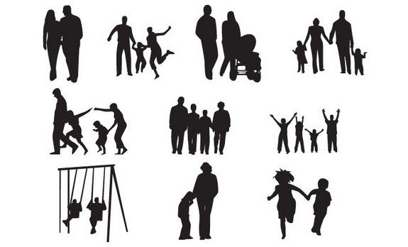 Family Silhouettes [EPS File]