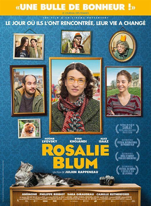 Rosalie Blum, un film sympa de Julien Rappeneau (2016). Vincent Machot connaît sa vie par cœur. Il la partage entre son salon de coiffure, son cousin, son chat, et sa mère bien trop envahissante. Mais la vie réserve parfois des surprises, même aux plus prudents. Il croise par hasard Rosalie Blum, une femme mystérieuse et solitaire, qu'il est convaincu d'avoir déjà rencontrée. Mais où ? Intrigué, il se décide à la suivre partout, dans l'espoir d'en savoir plus. Il ne se doute pas que cette…
