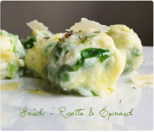 Spinach and Ricotta Gnudi. (Naked Ravioli) *recipe in French* More