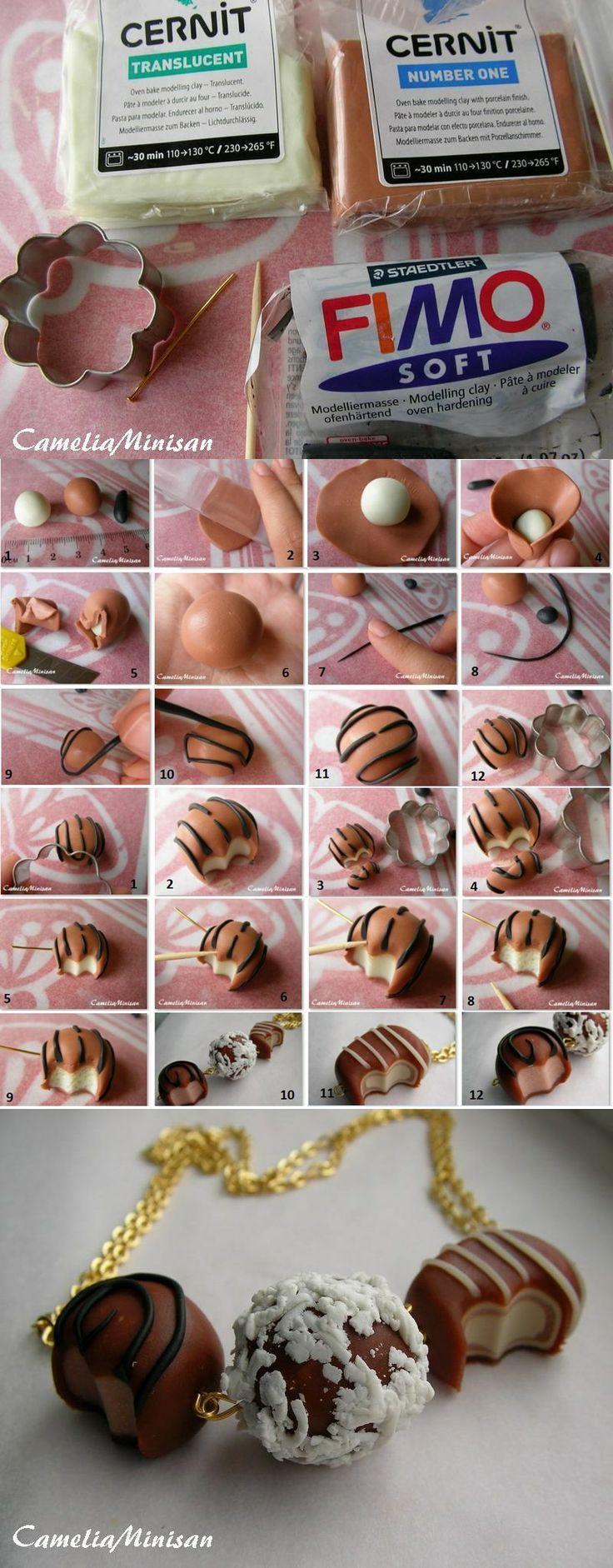 Techniques pour fabriquer ses bijoux en pâte de fimo tel les bijoux gourmandes.Le mode d'emploi dans ce blog spécialiste de loisirs créatifs.