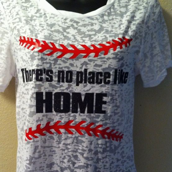 Baseball mom shirt, no place like home, burnout, bling n' sports - Click image to find more Sports Pinterest pins