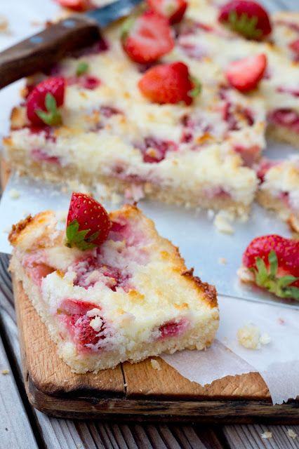 DoorEten : Kokostaart met aardbeien - met Zonnigfruit
